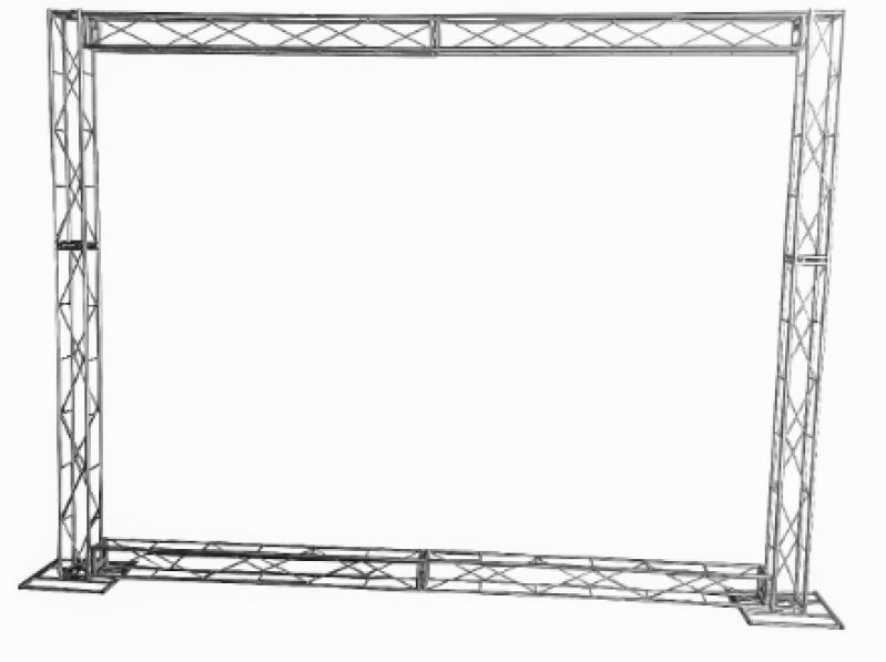 Box Truss Envelopado Diadema - Box Truss Iluminação
