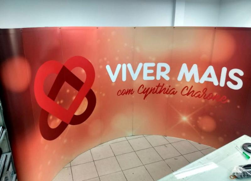 Comprar Painel Backdrop Desmontável São Bernardo do Campo - Painel Lona Backdrop para Fotos em Eventos