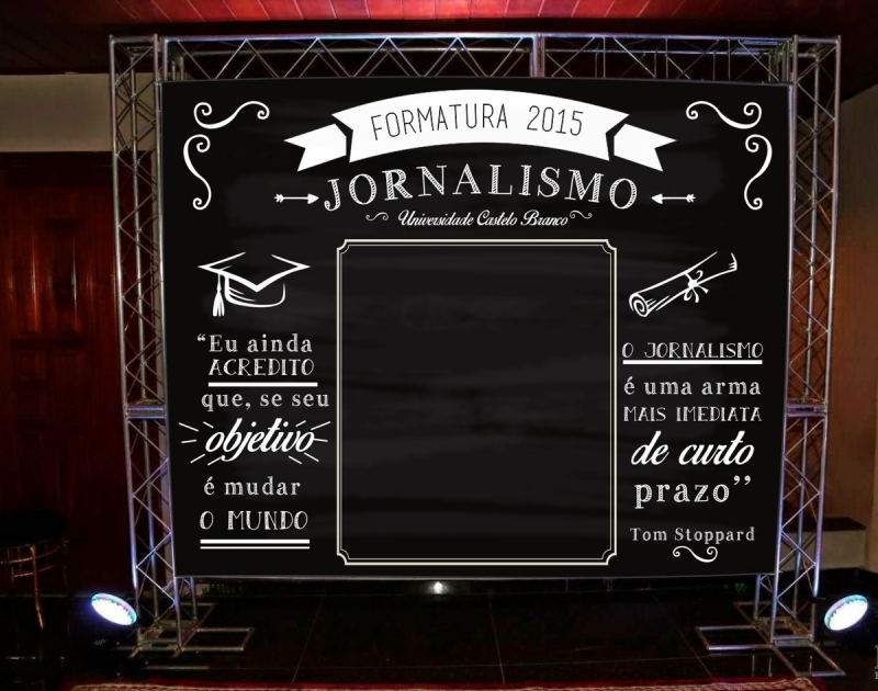 Painel Backdrop Formatura Campo Belo - Painel Backdrop 2x2
