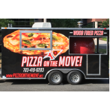envelopamento de food truck de pizza Santa Cruz