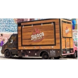 serviço de envelopamento de food truck de churrasco Carandiru