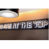 valor de letreiro luminoso para fachada de loja Vila Endres