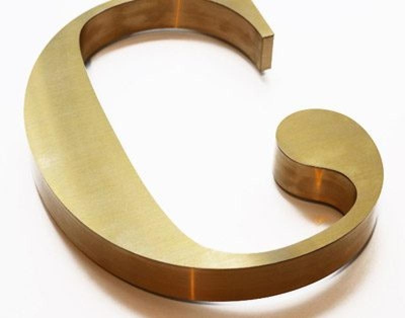 Valor de Letra Caixa Dourada Parque São Jorge - Letra Caixa Aço Galvanizado